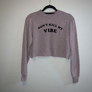 Top shop long sleeve crop sweater
